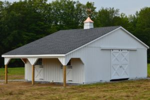 Beautiful Amish Built Lean-To Horse Barns From J & N Structures