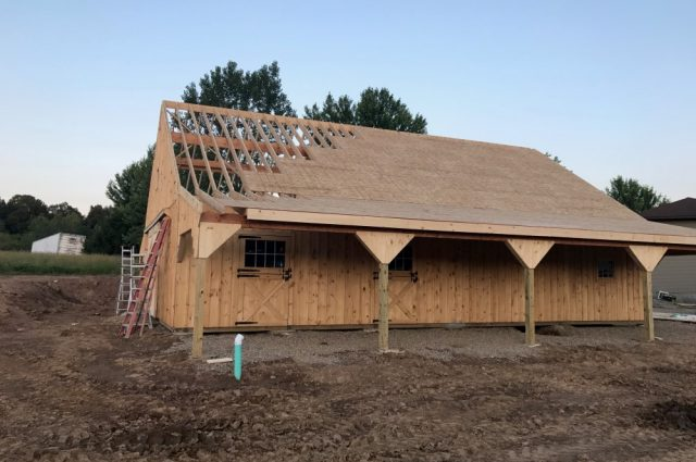 MA barn in consrtuction