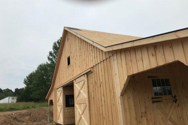 double leanto barn