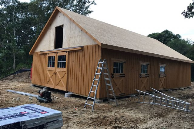 Wooden Barn in Construction