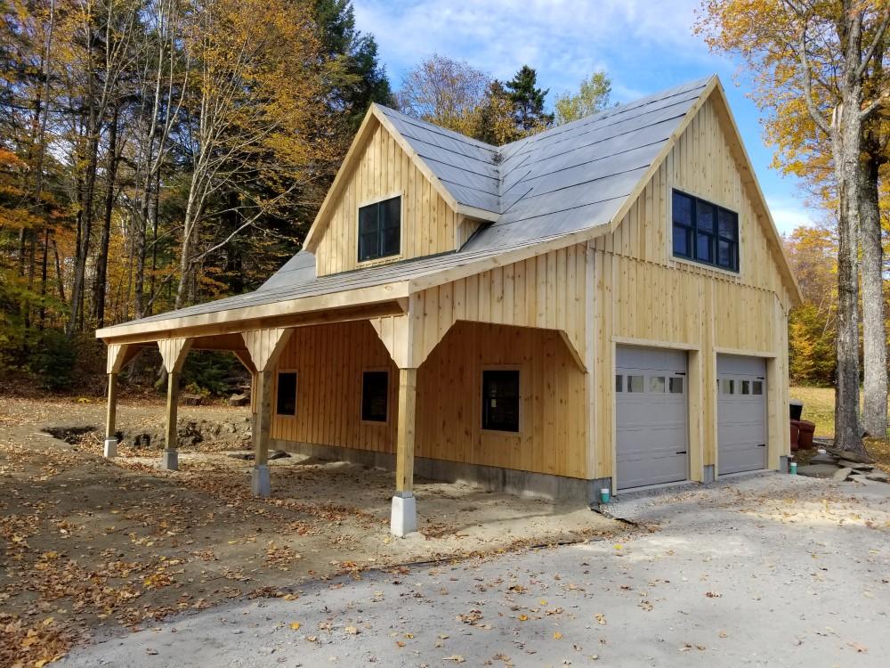 Modular Garage Design with Loft Space