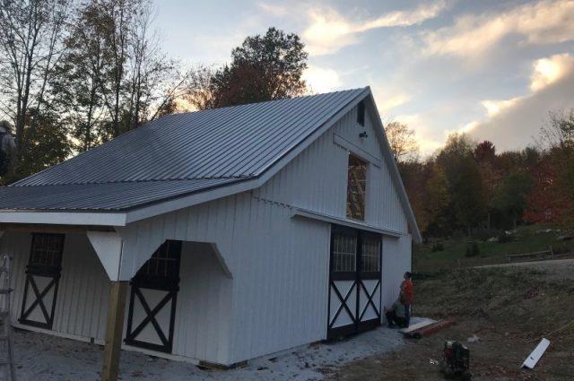 Barn Nearing Construction