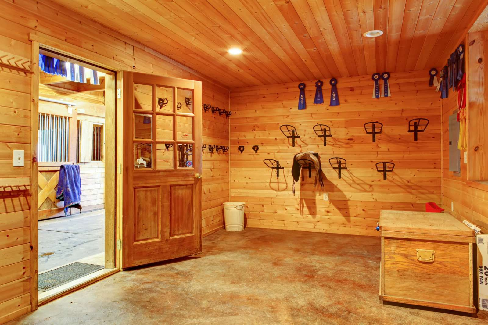 Tack Room in Horse Barn