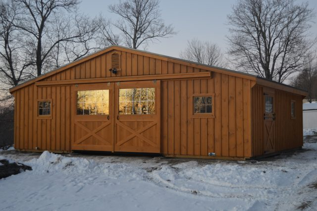 Completed Modular Barn Dover Plans, NY