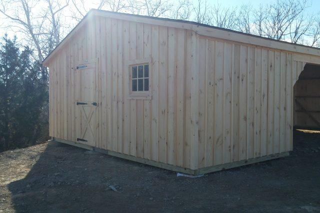 Shed Row Barn Installation in Kearneysville, WV