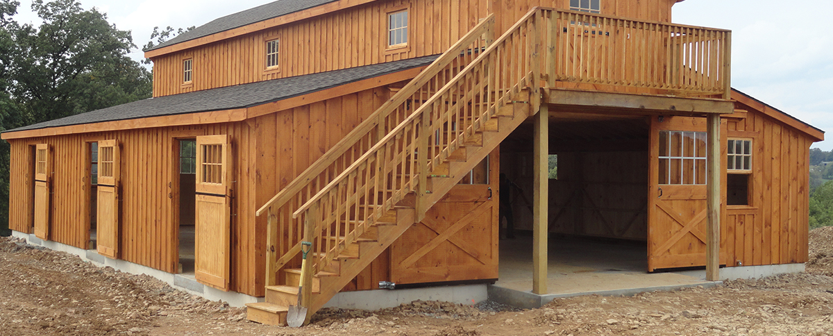 how to build a small horse barn