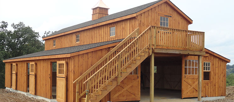 Custom Monitor Barn with Deck