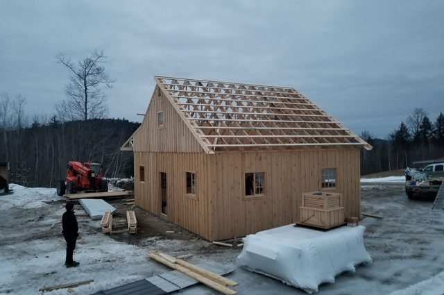 Horse Barn Almost Completed in Sutton, NH