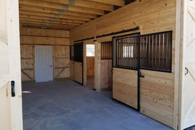 Building a Horse Barn in Sutton, NH