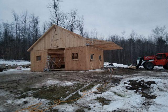 Building Custom Barn in Sutton, NH