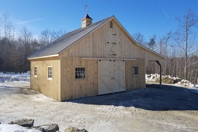 Finished Custom Horse Barn in Sutton, NH