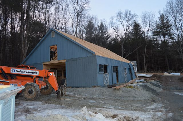 High Country Modular Barn Being Built in MA