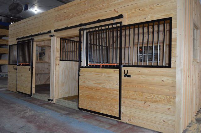 Horse Stalls in Barn, New Hampshire