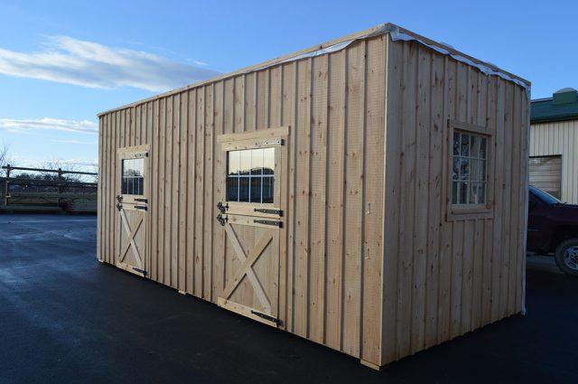 Pre-fab modular barn in Sutton, NH