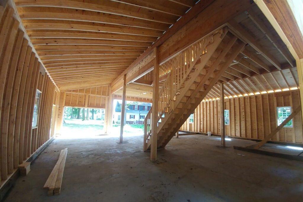 Spacious Interior of Residential Modular Garage