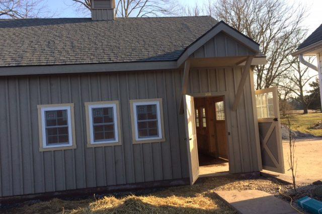 Perkasie PA 24'x26' double wide garage installation