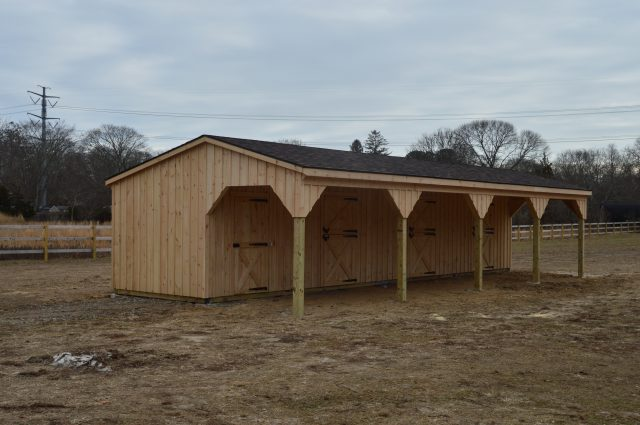 shed row barn installation Manorville New York