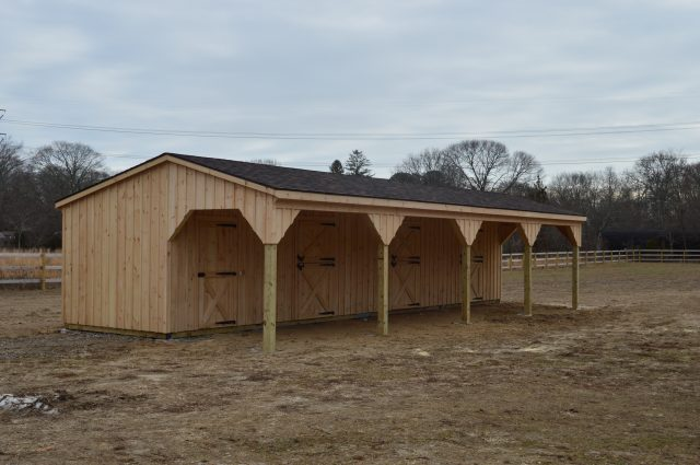 shed row barn installation Manorville, NY