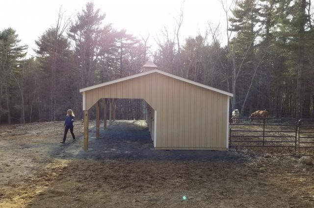 Shed Row Barn with 10′ Lean-to – Plympton, MA