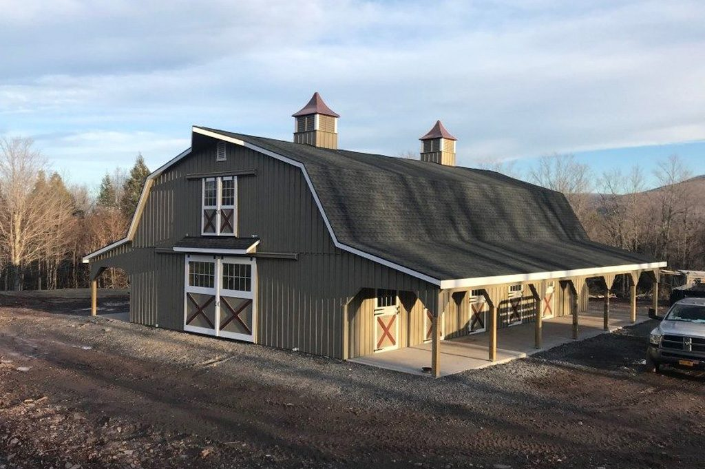 Custom Gambrel Barn from J&N Structures