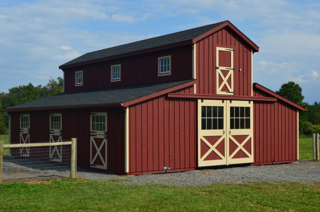 Custom Red Monitor Style Barn