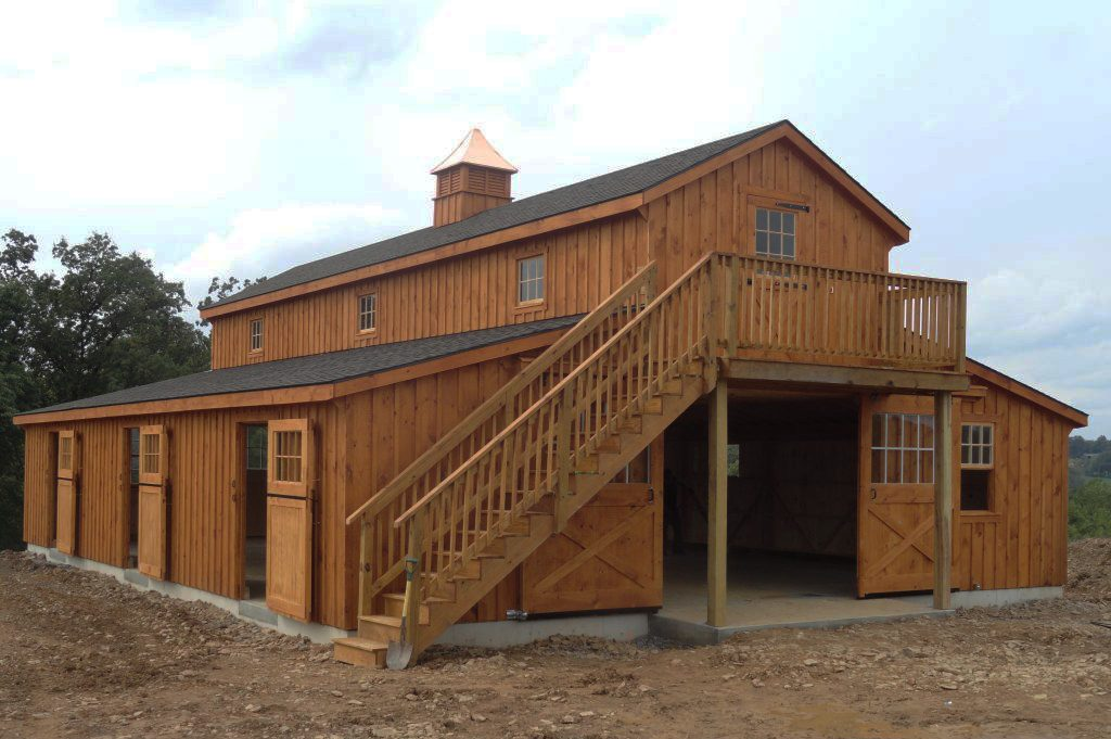 2 Story Monitor Style Barn with Loft