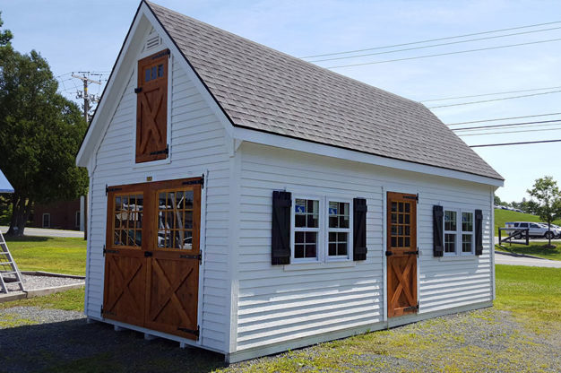 White Backyard Storage Shed Solutions