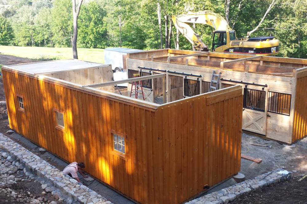 Trailside barn construction
