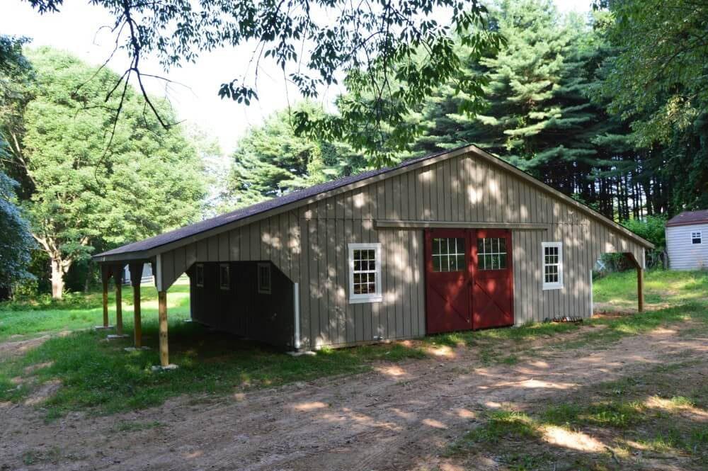 Gray low profile barn