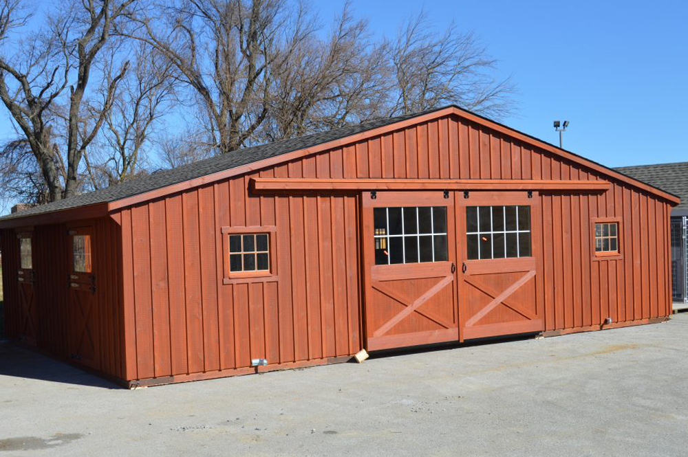 Commercial horse barn