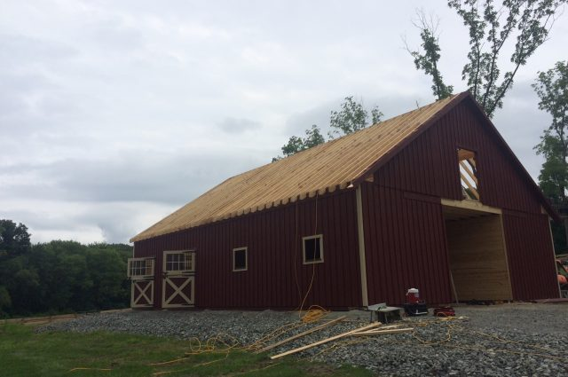 almost finished barn