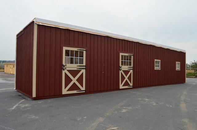 half of barn