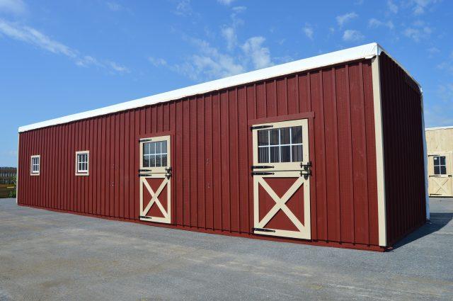 half of modular barn