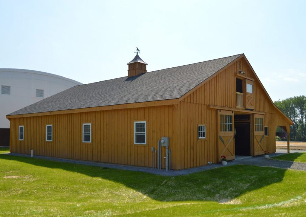 Beautiful new horse barn