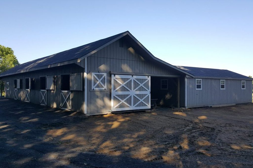Large custom shed row barn
