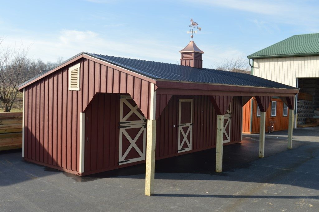 Red shed row barn design