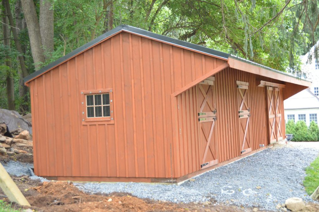 Backyard shed row barn built custom