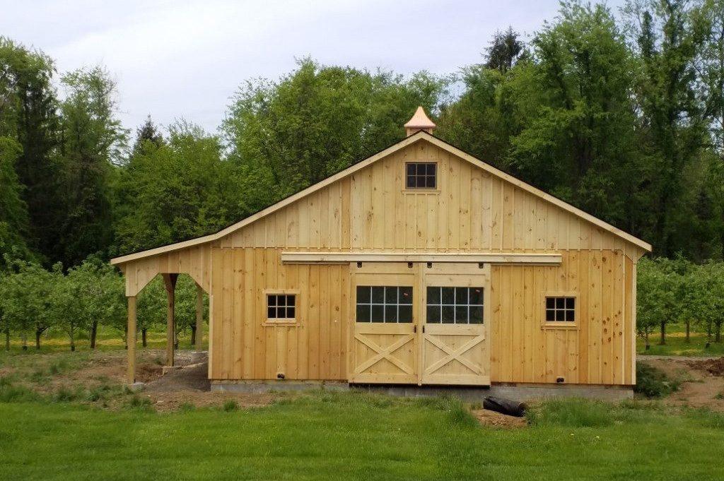 Classic backyard barn