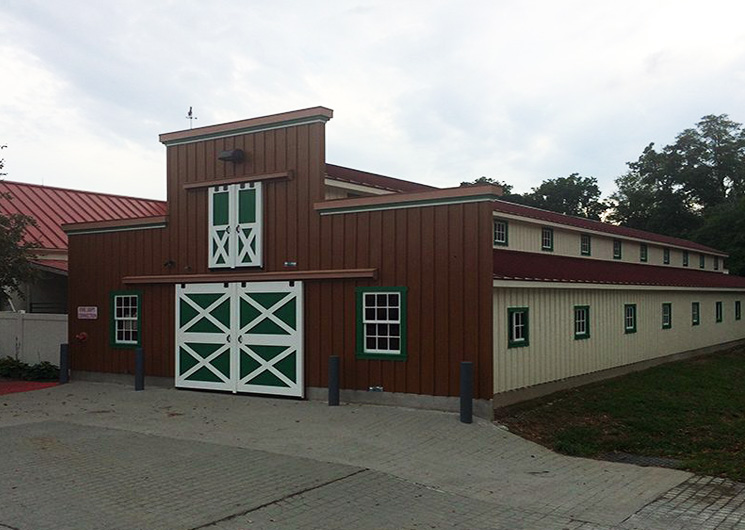 Horse barn designed with dutch doors