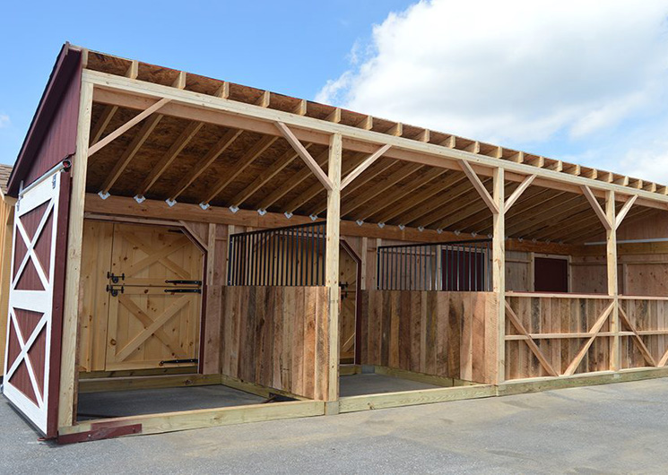 Horse Barn Stalls Inside Modular Barn
