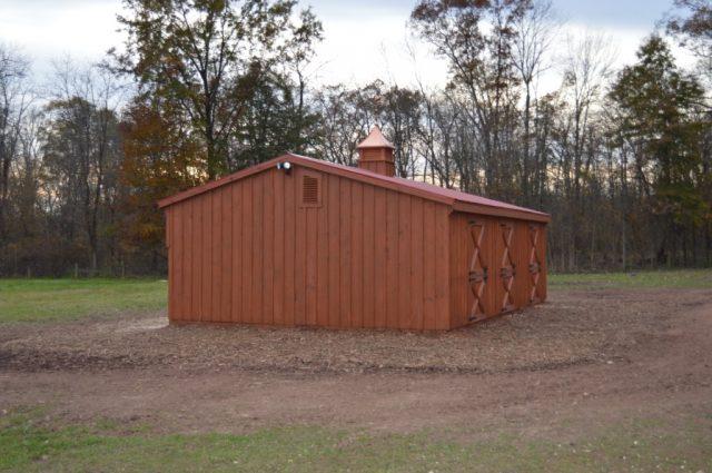 10' x 30' shed row barn Dillsburg, PA