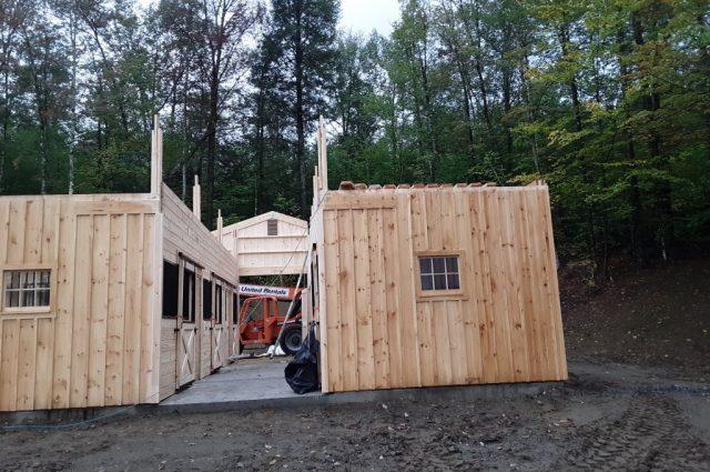 32'x36' modular barn in Stowe, Vermont
