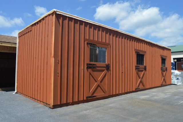 36'x36' modular barn with two 10' lean-tos Red Bank, NJ