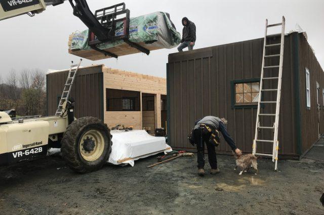 Amish Modular Horse Barn in Hartland, VT