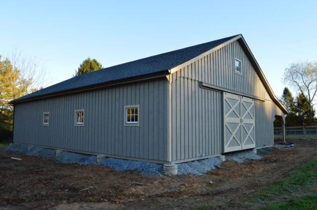 Grey Modular Barn Cochranville, PA