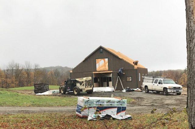 Modular Barn in Hartland, Vermont