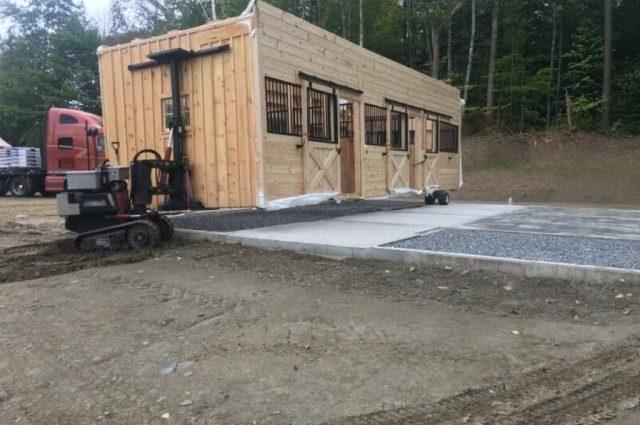 modular barn in Stowe, Vermont