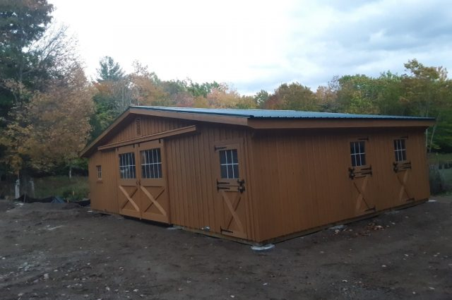 Modular Barn with Double Doors in Madison, NH
