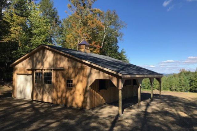 modular horse barn double sliding doors Stowe, VT