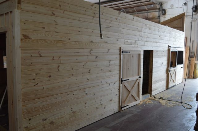 modular horse barn in Stowe, VT